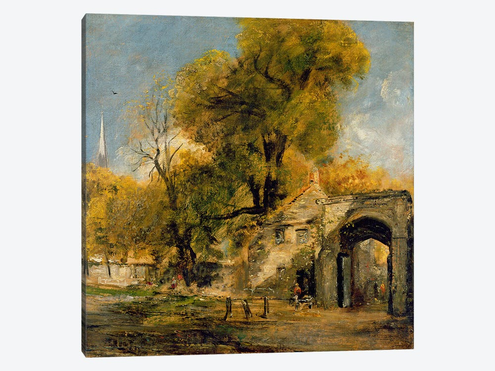 Harnham Gate, Salisbury, c.1820-21 by John Constable 1-piece Canvas Art