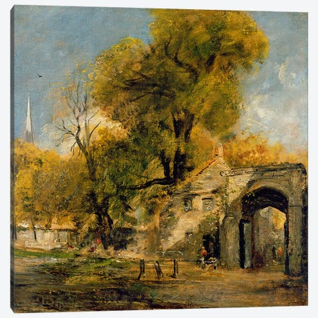 Harnham Gate, Salisbury, c.1820-21  Canvas Print #BMN2897} by John Constable Canvas Artwork