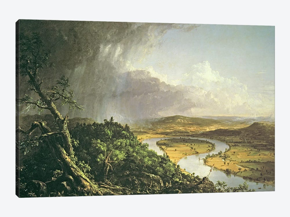 The Oxbow  by Thomas Cole 1-piece Canvas Art Print
