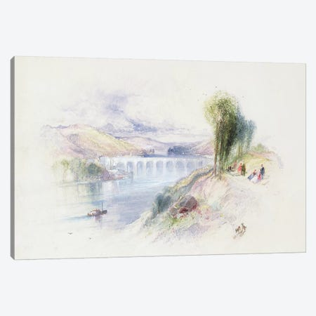 The River Schuykill  Canvas Print #BMN2901} by Thomas Moran Canvas Art Print