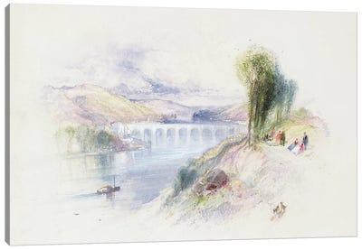 The River Schuykill  Canvas Art Print