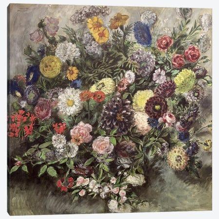 Bouquet of Flowers  Canvas Print #BMN2903} by Ferdinand Victor Eugene Delacroix Art Print