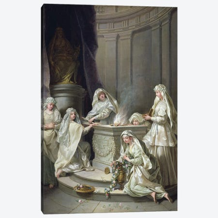Vestal Virgins, 1727  Canvas Print #BMN2904} by Jean Raoux Canvas Wall Art
