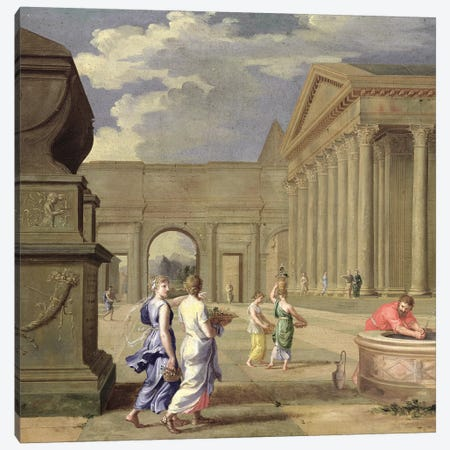 Classical Landscape  Canvas Print #BMN2918} by Jean Lemaire Canvas Artwork