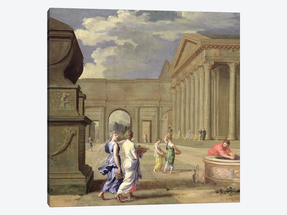 Classical Landscape  by Jean Lemaire 1-piece Canvas Art
