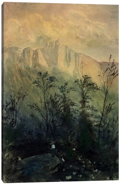 Landscape in the Vosges, c.1883 Canvas Art Print