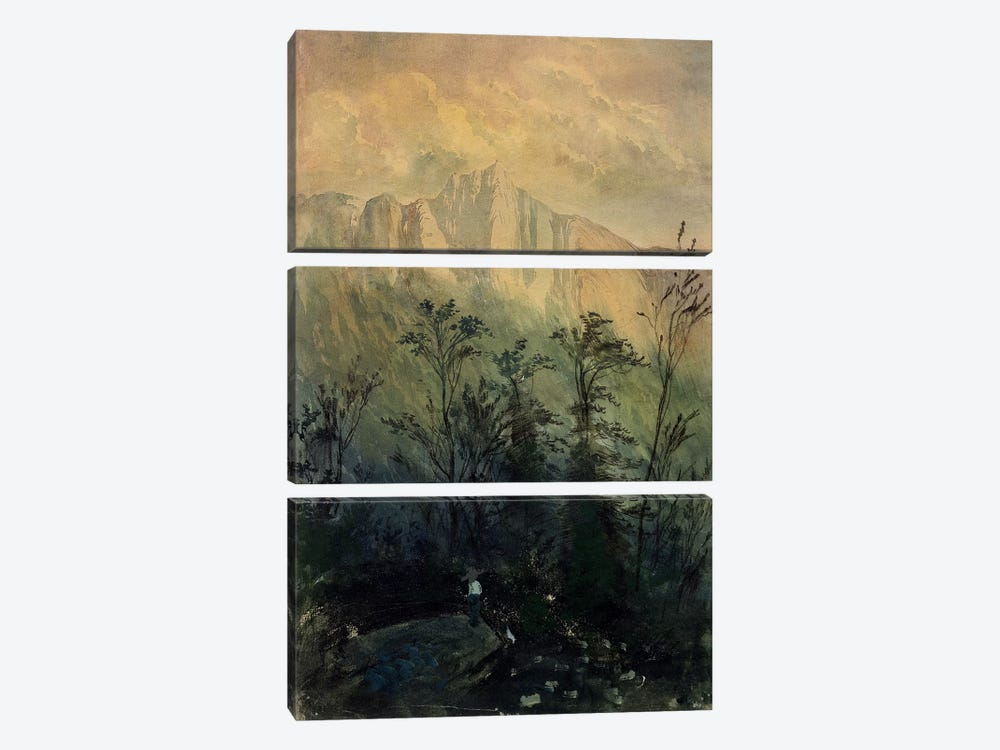 Landscape in the Vosges, c.1883  by Gustave Dore 3-piece Canvas Print