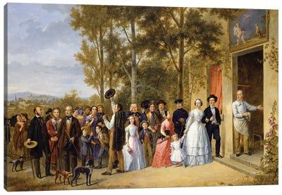 A Wedding at the Coeur Volant, Louveciennes, c.1850  Canvas Art Print