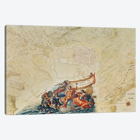 Ms. 987, Vol.2 fol.63 Plan of Toulon, from the 'Atlas Louis XIV', 1683-88  Canvas Print #BMN2921} by Sebastien Le Prestre de Vauban Art Print