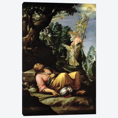 The Dream of Jacob  Canvas Print #BMN2922} by Alessandro Allori Art Print