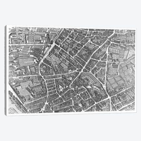 Plan of Paris, known as the 'Plan de Turgot', pl.7 engraved by Claude Lucas, 1734-39  Canvas Print #BMN2925} by Louis Bretez Canvas Artwork