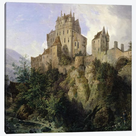 Eltz Castle  Canvas Print #BMN2928} by Domenico II Quaglio Canvas Art Print