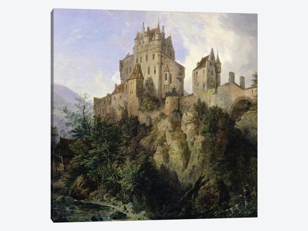 Eltz Castle  by Domenico II Quaglio 1-piece Canvas Art Print
