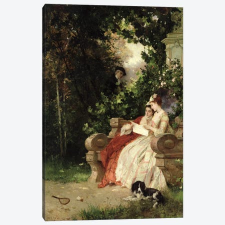 The Eavesdropper, 1868  Canvas Print #BMN2929} by Carl Heinrich Hoff Canvas Art Print