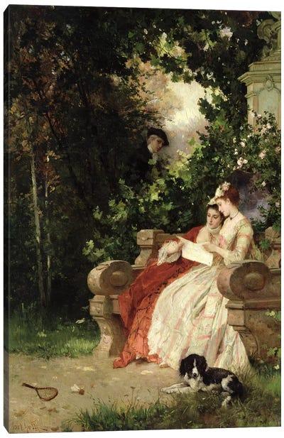 The Eavesdropper, 1868  Canvas Art Print
