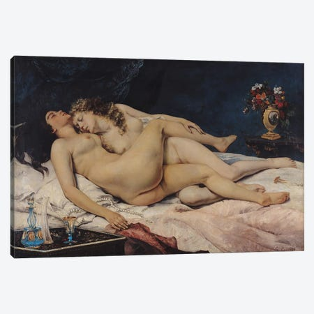 Le Sommeil, 1866  Canvas Print #BMN292} by Gustave Courbet Art Print