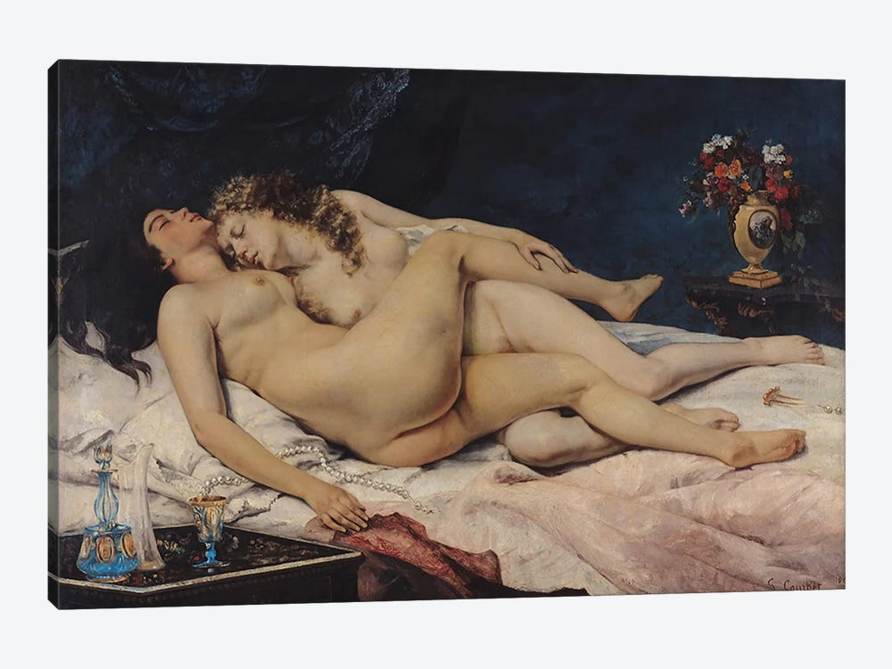 Le Sommeil, 1866  by Gustave Courbet 1-piece Art Print