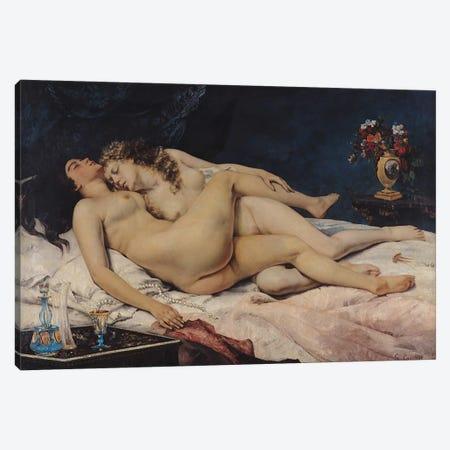 Le Sommeil, 1866  Canvas Print #BMN292} by Gustave Courbet Art Print