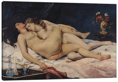 Le Sommeil, 1866  Canvas Art Print