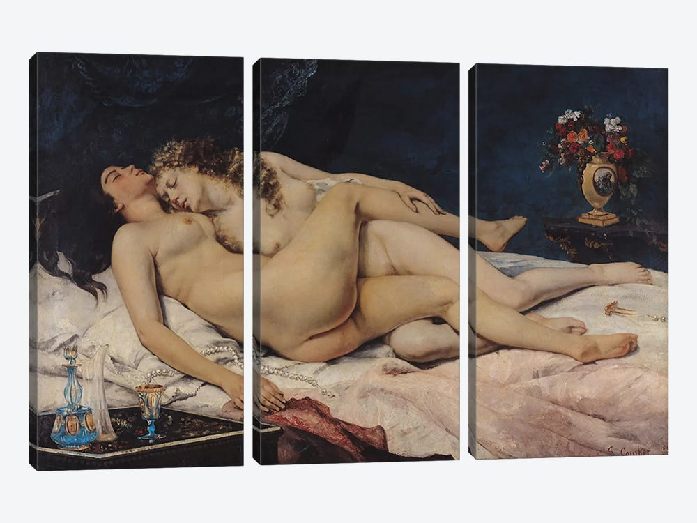 Le Sommeil, 1866  by Gustave Courbet 3-piece Art Print