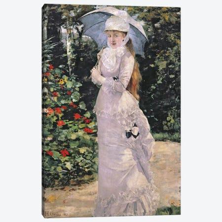 Madame Valtesse de la Bigne, 1889  Canvas Print #BMN2930} by Henri Gervex Canvas Wall Art