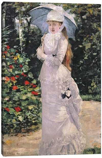 Madame Valtesse de la Bigne, 1889  Canvas Art Print