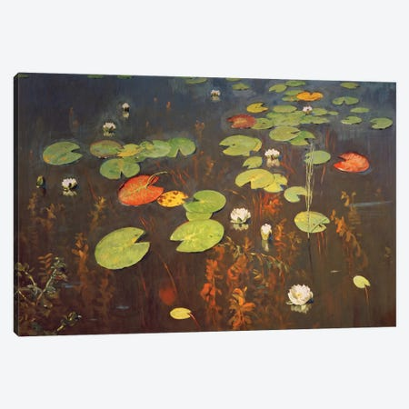 Water Lilies 1895  Canvas Print #BMN2932} by Isaak Ilyich Levitan Canvas Artwork