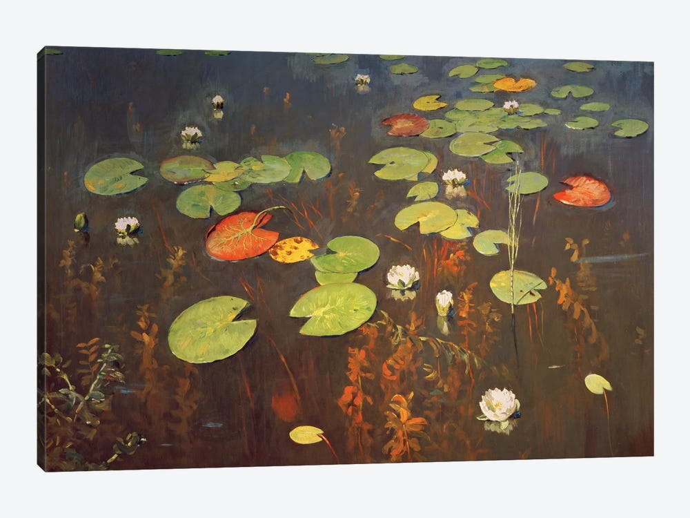 Water Lilies 1895  by Isaak Ilyich Levitan 1-piece Canvas Art