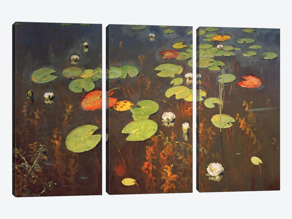 Water Lilies 1895  by Isaak Ilyich Levitan 3-piece Canvas Artwork