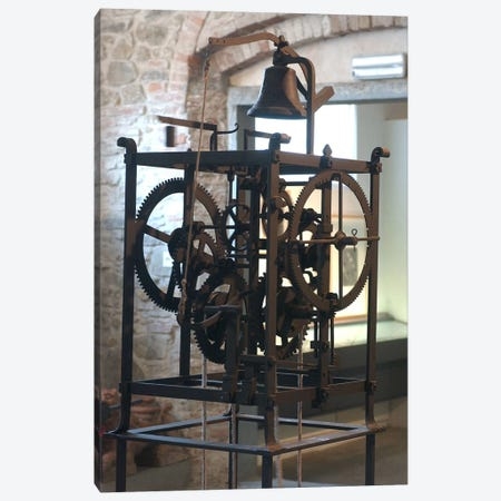 Reconstruction of a mechanical clock  Canvas Print #BMN2937} by Leonardo da Vinci Art Print