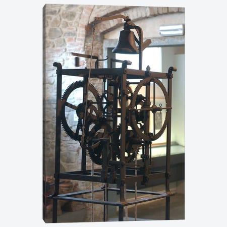 Reconstruction of a mechanical clock  Canvas Print #BMN2937} by Leonardo da Vinci Art Print