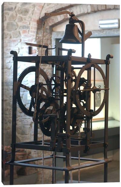 Reconstruction of a mechanical clock  Canvas Art Print
