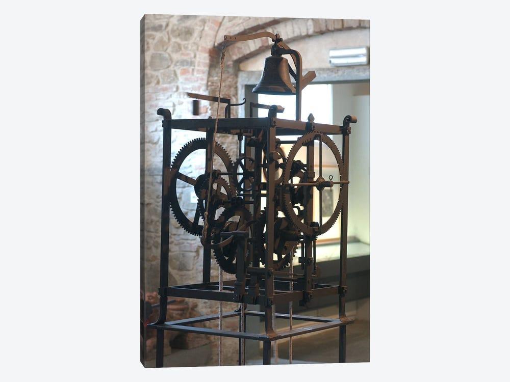 Reconstruction of a mechanical clock  by Leonardo da Vinci 1-piece Canvas Print