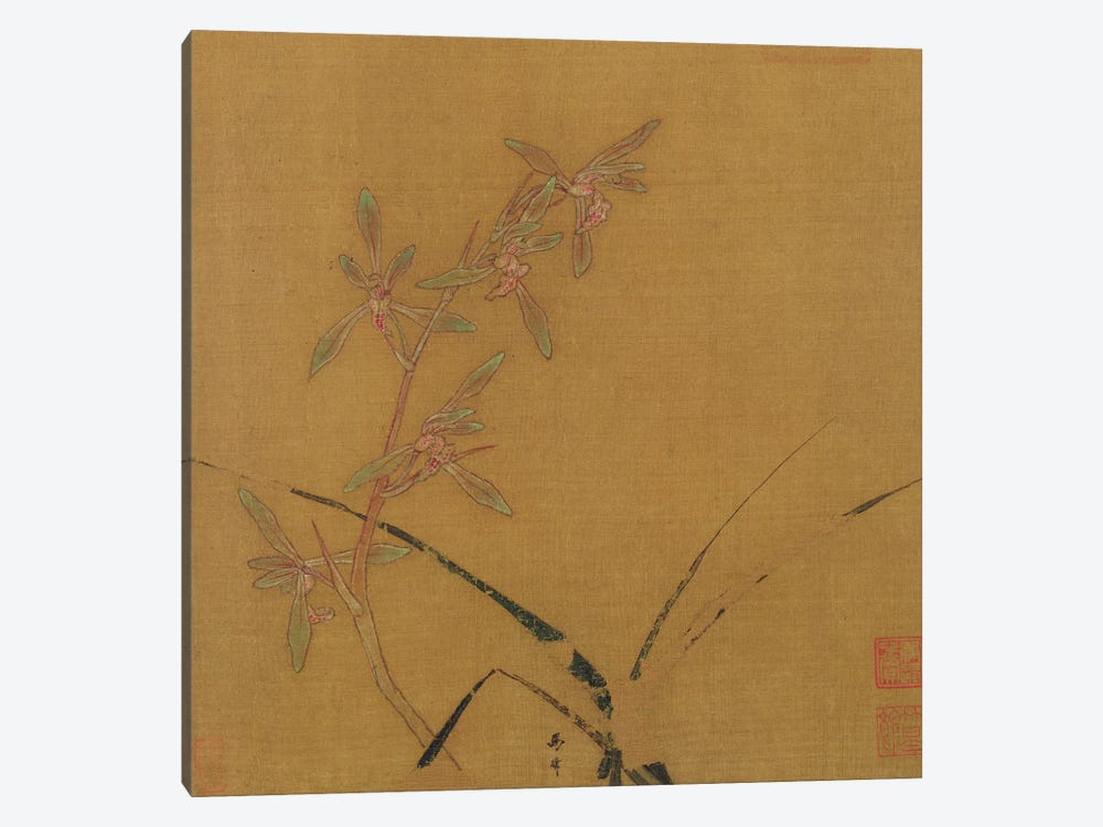Orchids  by Japanese School 1-piece Canvas Artwork