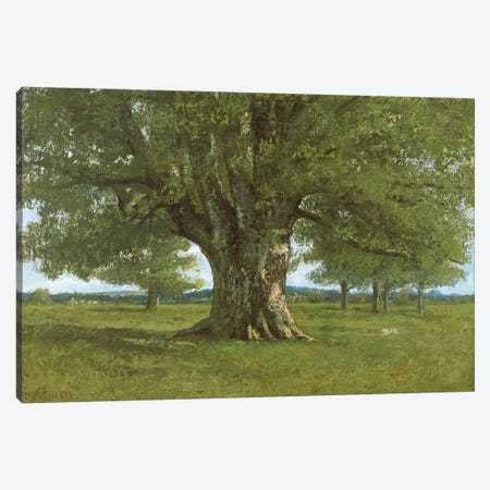 The Oak of Flagey, called Vercingetorix Canvas Print #BMN293} by Gustave Courbet Art Print