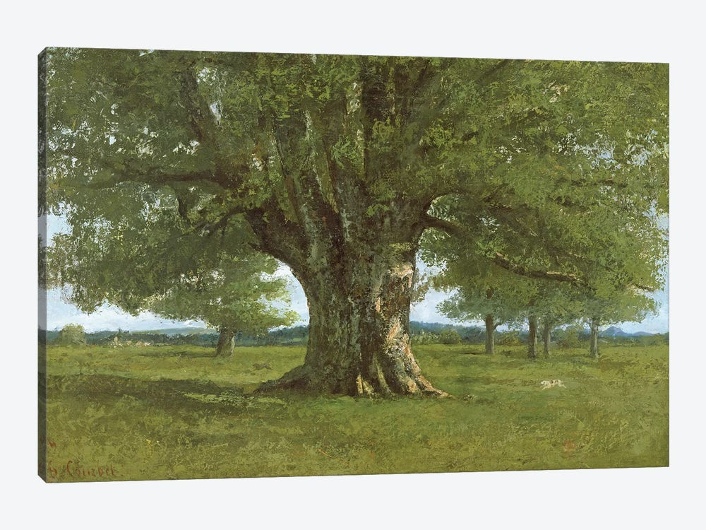 The Oak of Flagey, called Vercingetorix by Gustave Courbet 1-piece Canvas Artwork