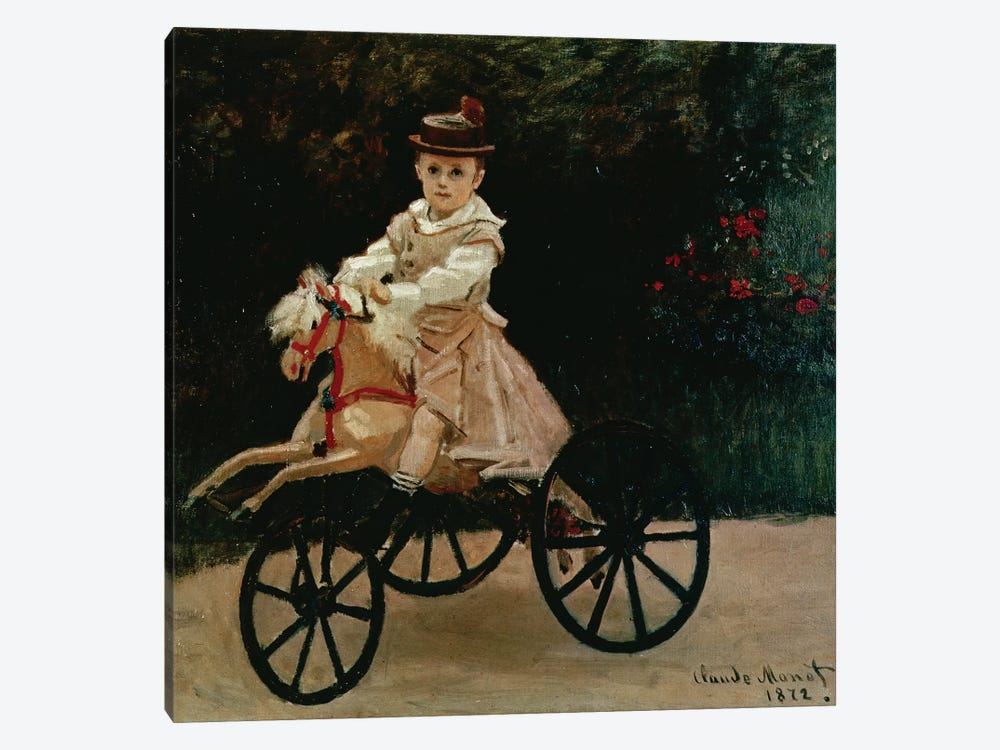 Jean Monet on his Hobby Horse, 1872  by Claude Monet 1-piece Canvas Print