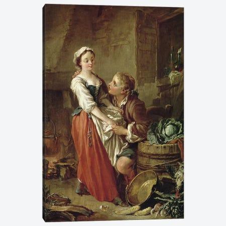 The Beautiful Kitchen Maid  Canvas Print #BMN2947} by Francois Boucher Canvas Art