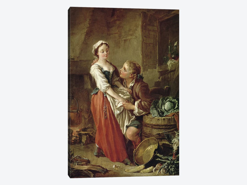 The Beautiful Kitchen Maid  by Francois Boucher 1-piece Canvas Wall Art
