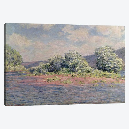The Seine at Port-Villez, c.1890  Canvas Print #BMN2949} by Claude Monet Canvas Print