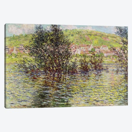 Vetheuil, View from Lavacourt, 1879  Canvas Print #BMN2950} by Claude Monet Canvas Art