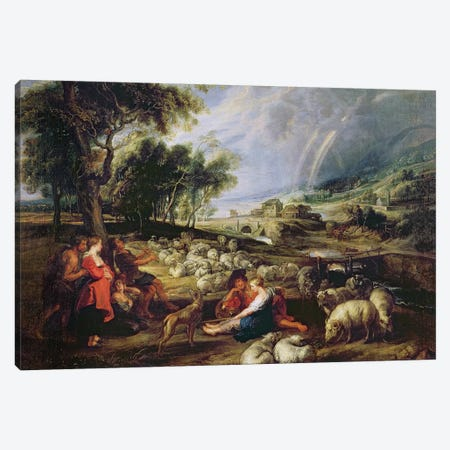 Landscape with a Rainbow  Canvas Print #BMN2952} by Peter Paul Rubens Canvas Wall Art