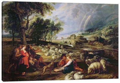 Landscape with a Rainbow  Canvas Art Print