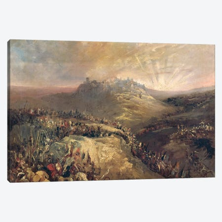 The Crusaders Before Jerusalem  Canvas Print #BMN2953} by Eugenio Lucas Velazquez Canvas Artwork