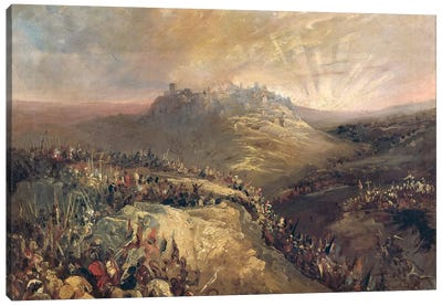 The Crusaders Before Jerusalem  Canvas Art Print