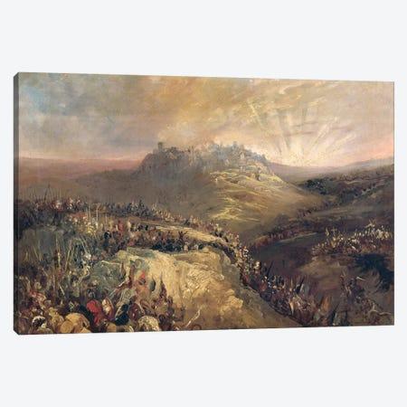 The Crusaders Before Jerusalem  Canvas Print #BMN2953} by Eugenio Lucas Velazquez Canvas Artwork