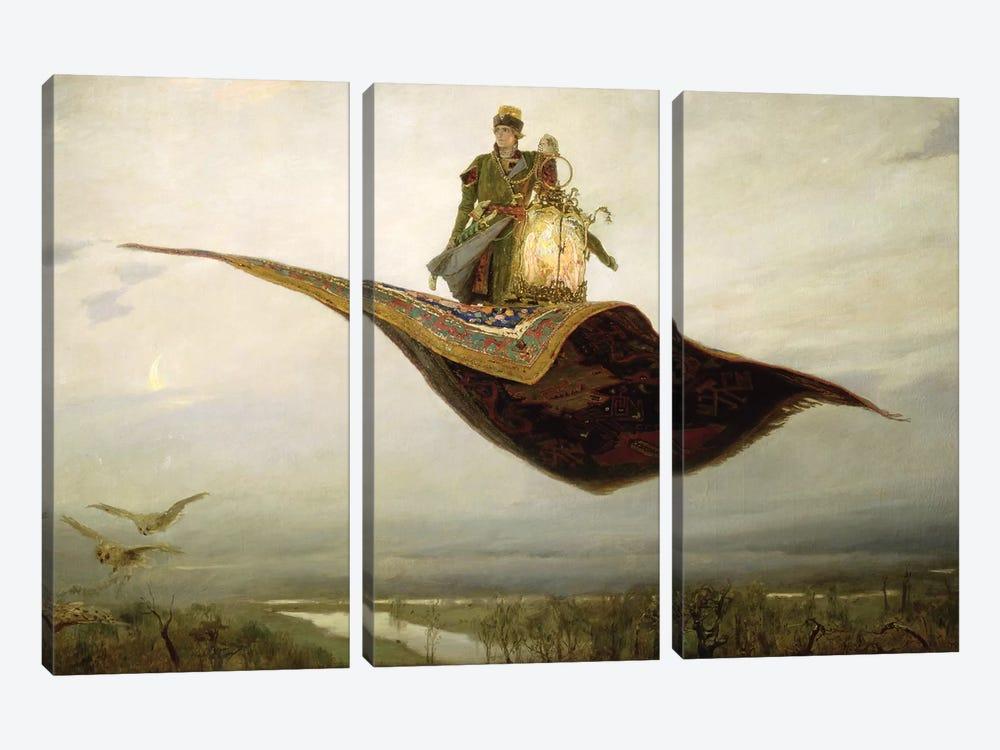 The Magic Carpet, 1880  by Apollinari Mikhailovich Vasnetsov 3-piece Canvas Art