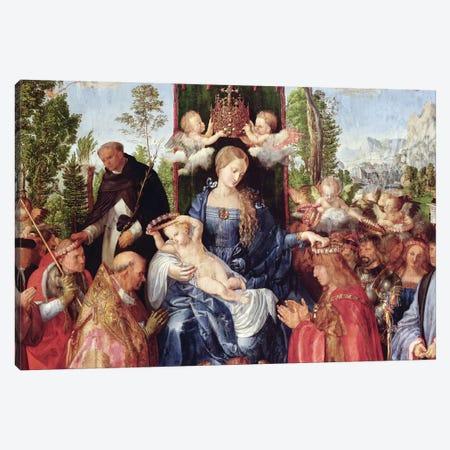 The Feast of the Rose Garlands, 1506   Canvas Print #BMN2955} by Albrecht Dürer Canvas Print