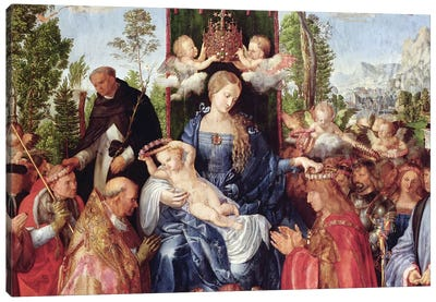 The Feast of the Rose Garlands, 1506   Canvas Art Print