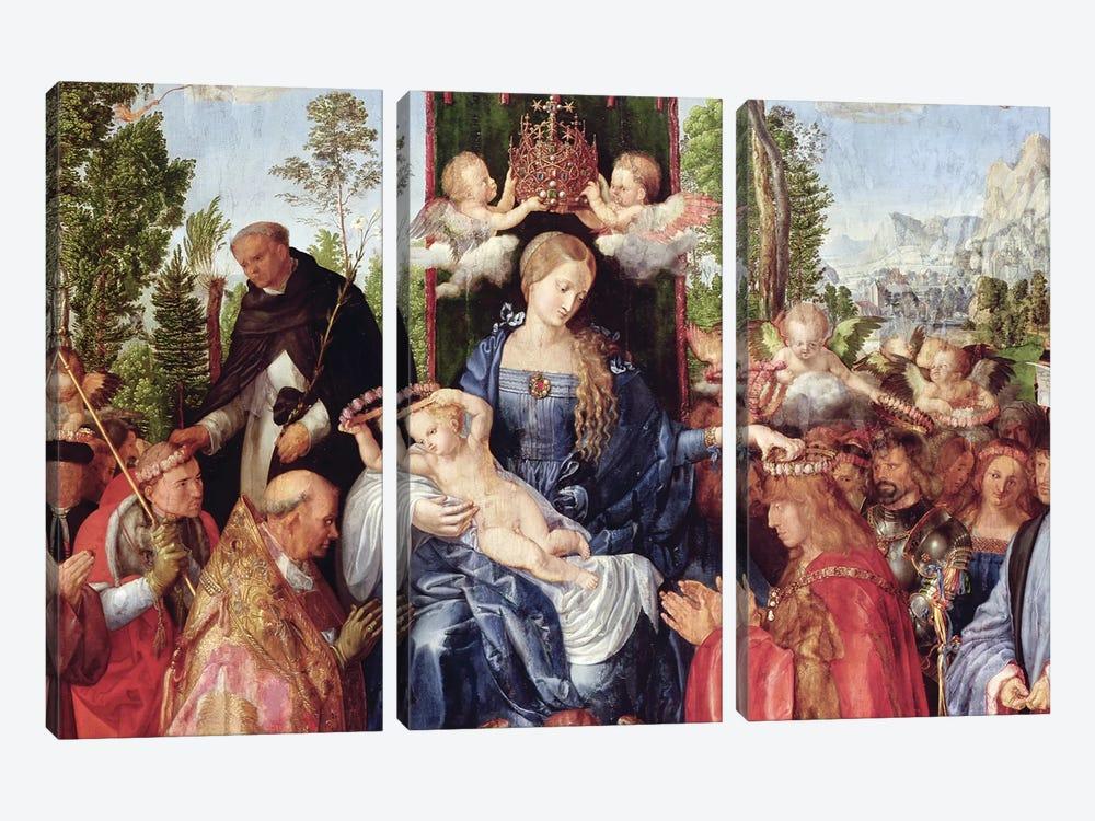 The Feast of the Rose Garlands, 1506   by Albrecht Dürer 3-piece Canvas Art Print